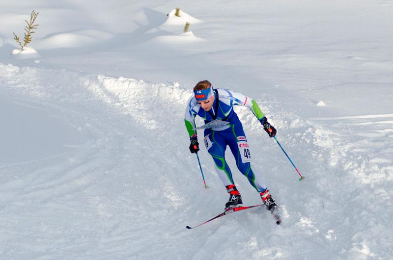 Janne Häkkinen oli Suomen miehistä vauhdikkain MM-sprintissä.