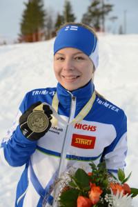 Liisa Nenonen otti nuorten EM-kultaa pitkältä matkalta.