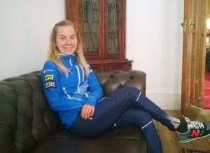 Sofia Haajanen ottaa rennosti ennen kauden pääkilpailua.