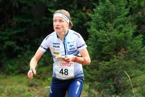 Merja Rantanen oli yhdeksäs maailmancupin päätöskisassa. Kuva: Erik Borg.