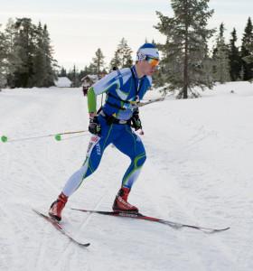 Ville-Petteri Saarela on taitava suksilla. Kuva: Pirjo Valjanen.