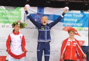 Inka Nurminen voitti 16-vuotiaiden sprintin Euroopan mestaruuden.